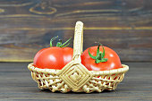 istock Fresh tomatoes in basket 970271236