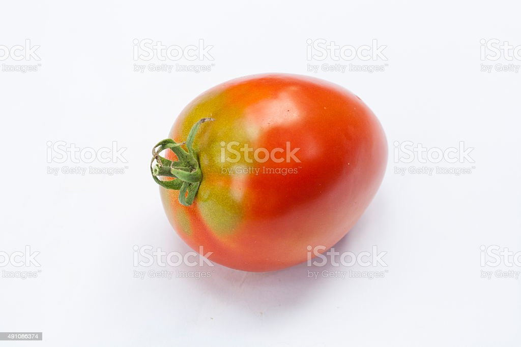 Fresh  tomatoes with isolated on whit royalty-free stock photo
