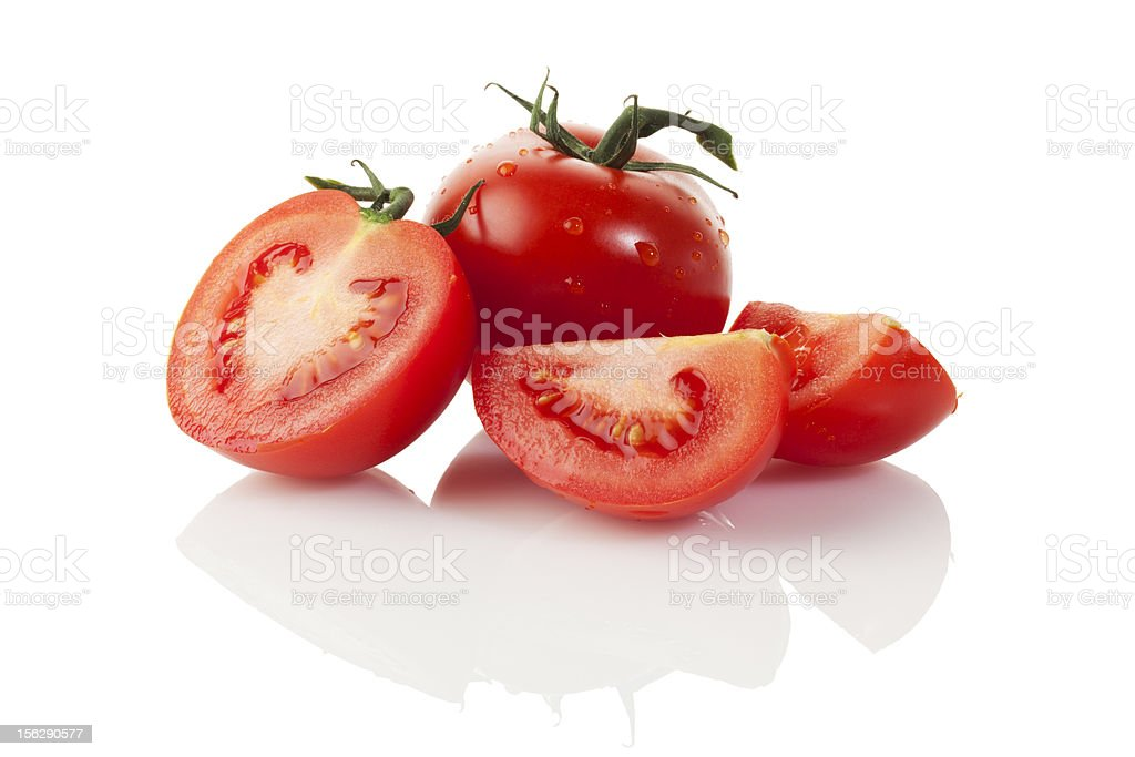 Fresh tomatos isolated royalty-free stock photo