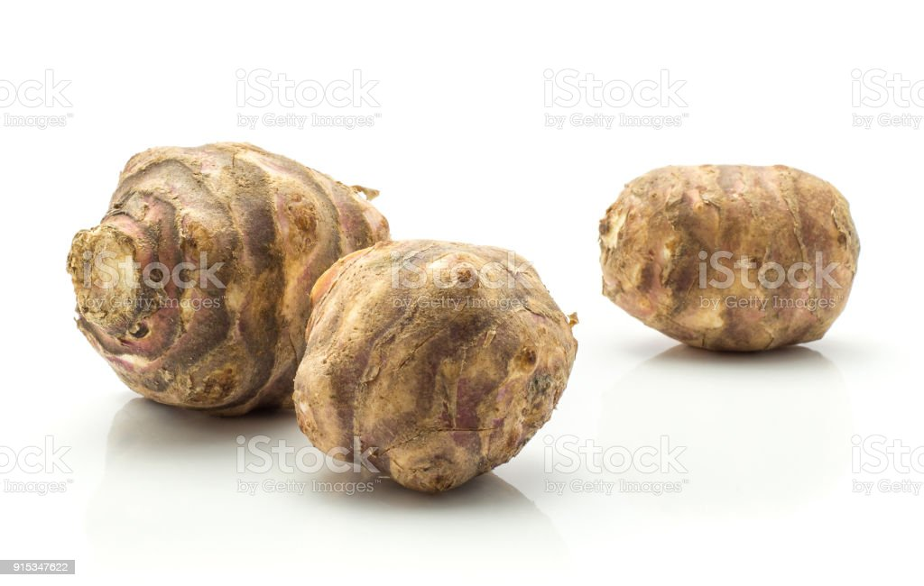Fresh Topinambur isolated on white stock photo