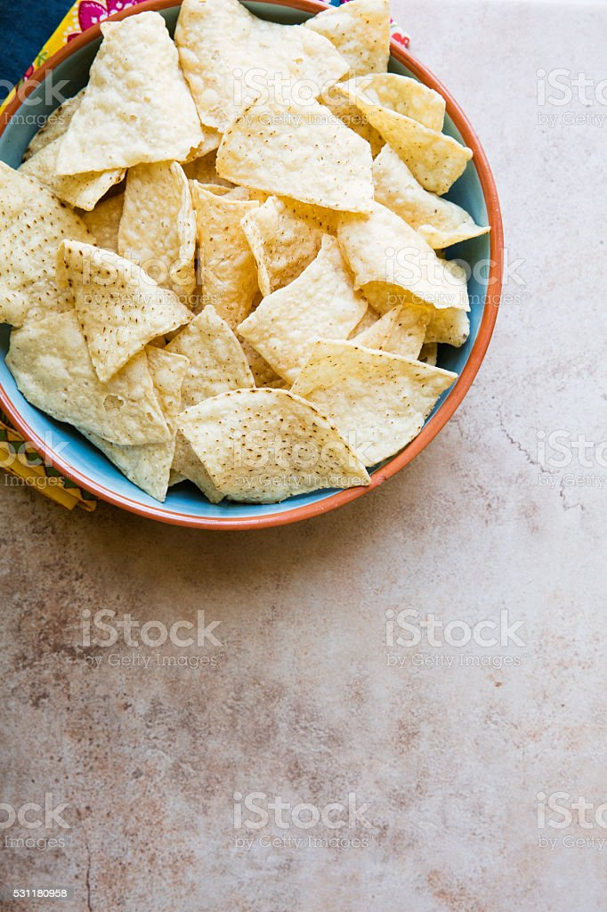Fresh Tortilla Chips stock photo