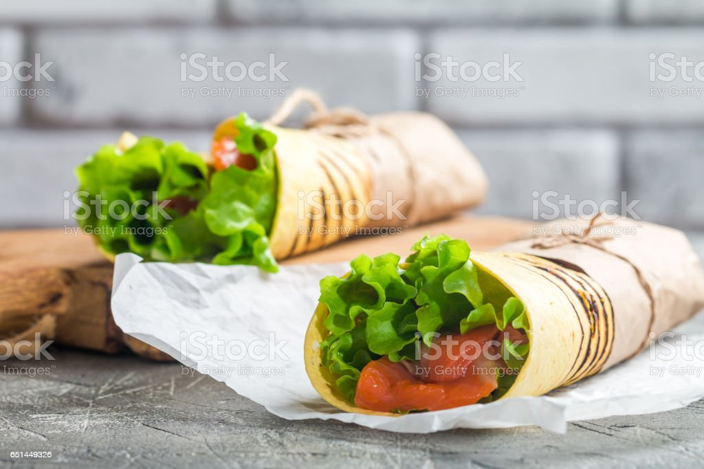 Frische tortilla-wrap – Foto