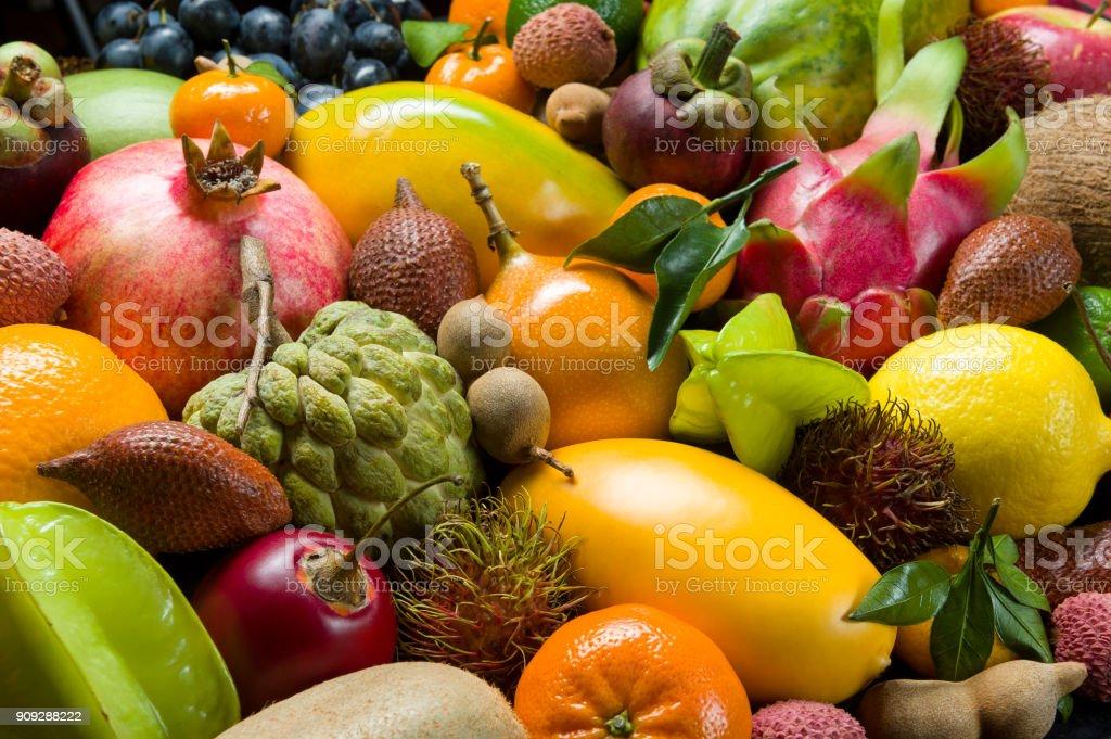 Frische, tropische Früchte – Foto