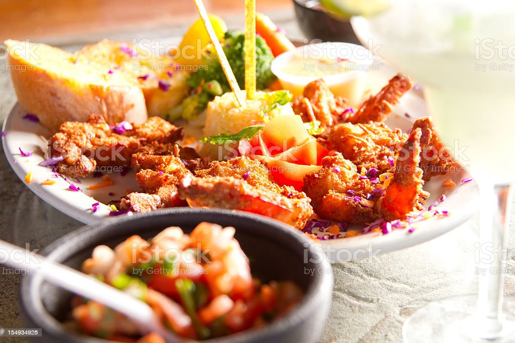 Fresh Tropical meal royalty-free stock photo