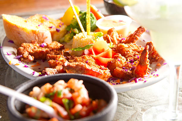Fresh Tropical meal stock photo