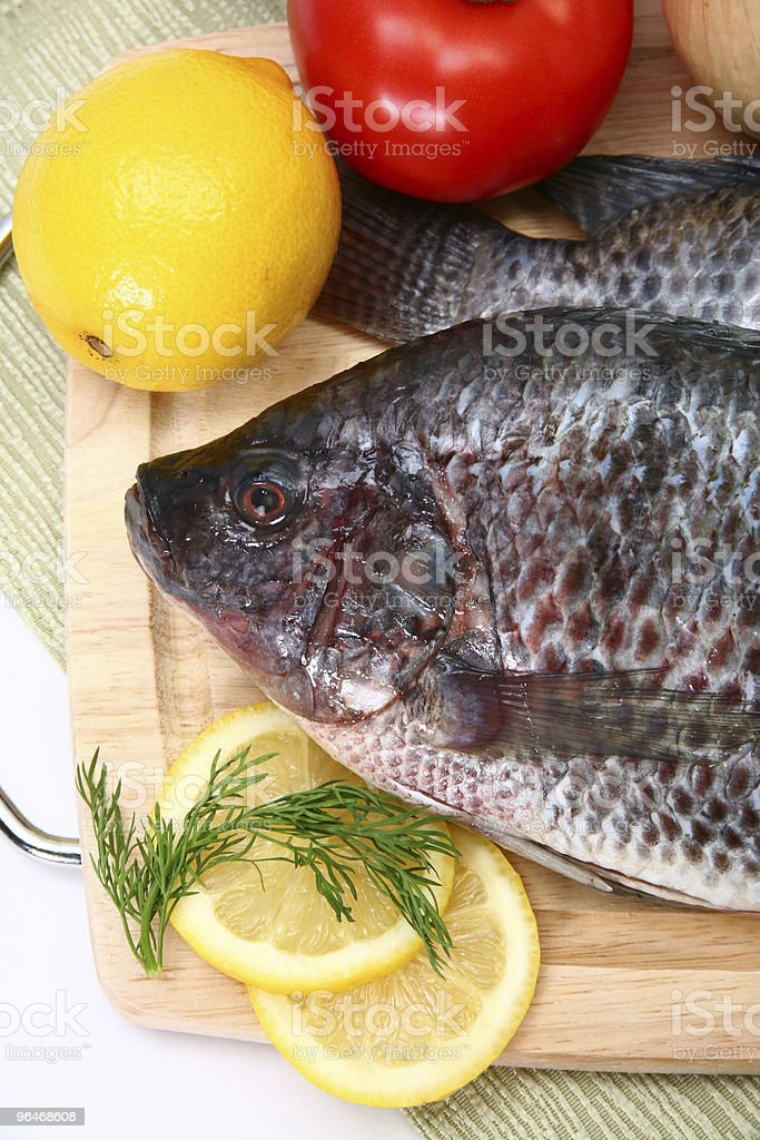 Fresh Ttilapia royalty-free stock photo