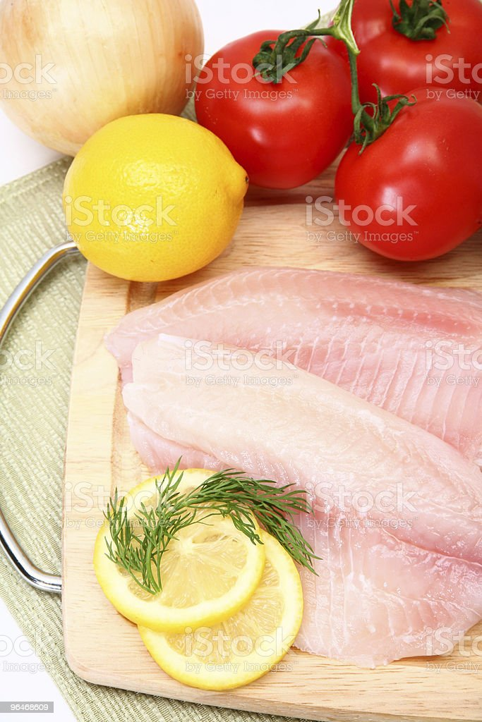 Fresh Ttilapia stock photo