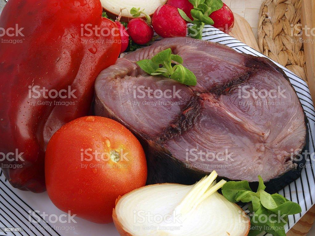 Fresh Tuna Steak royalty-free stock photo