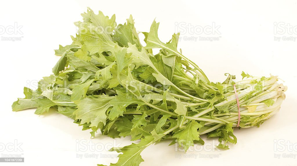 fresh turnip greens stock photo