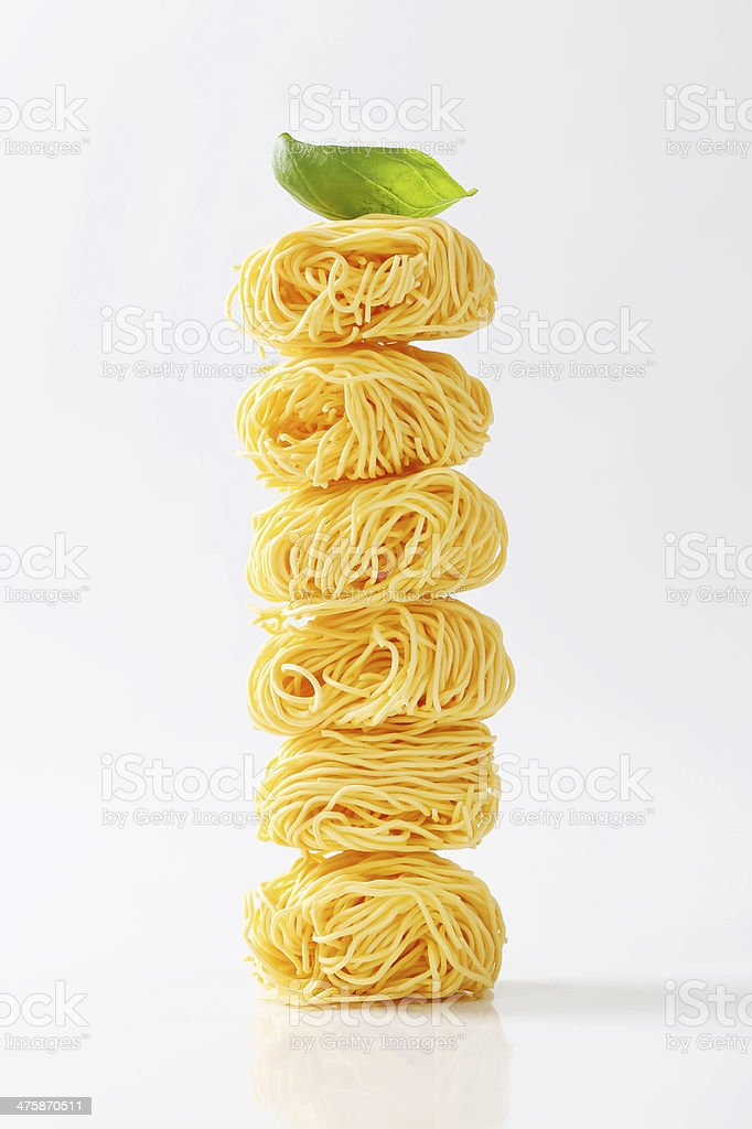 Fresh unprepared noodles royalty-free stock photo