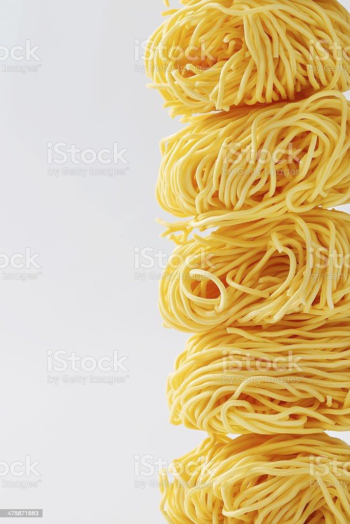 Fresh unprepared noodles royalty-free stock photo