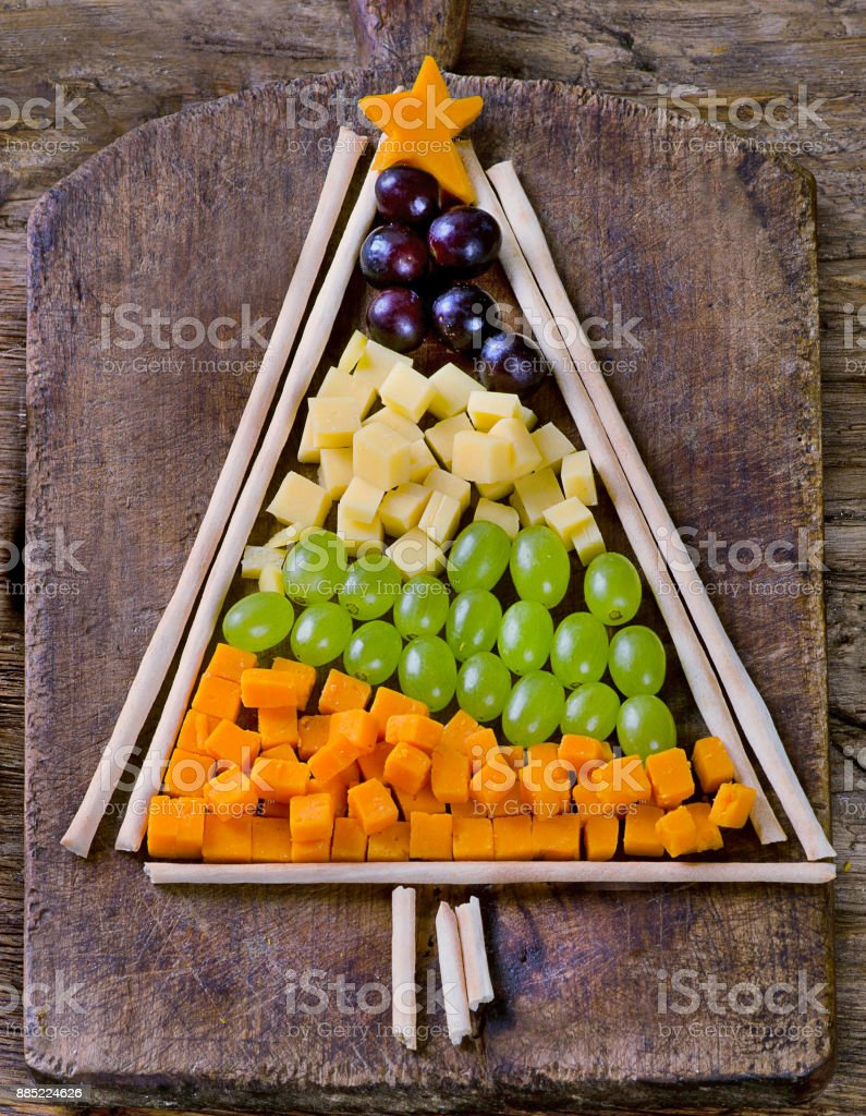Fresh Vegetabbles Christmas tree stock photo