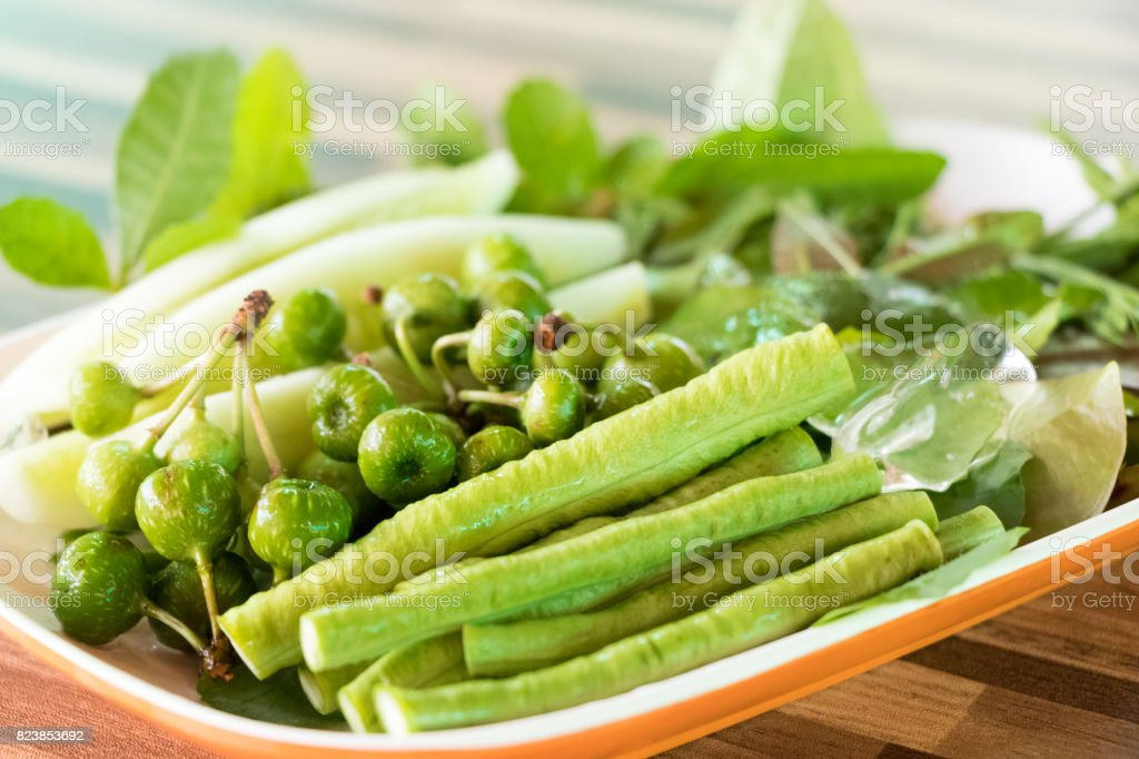 fresh vegetable are in the plate ready to eat stock photo