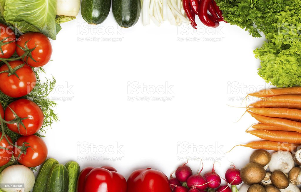 Fresh Vegetable Frame Stock Photo & More Pictures of Abundance | iStock