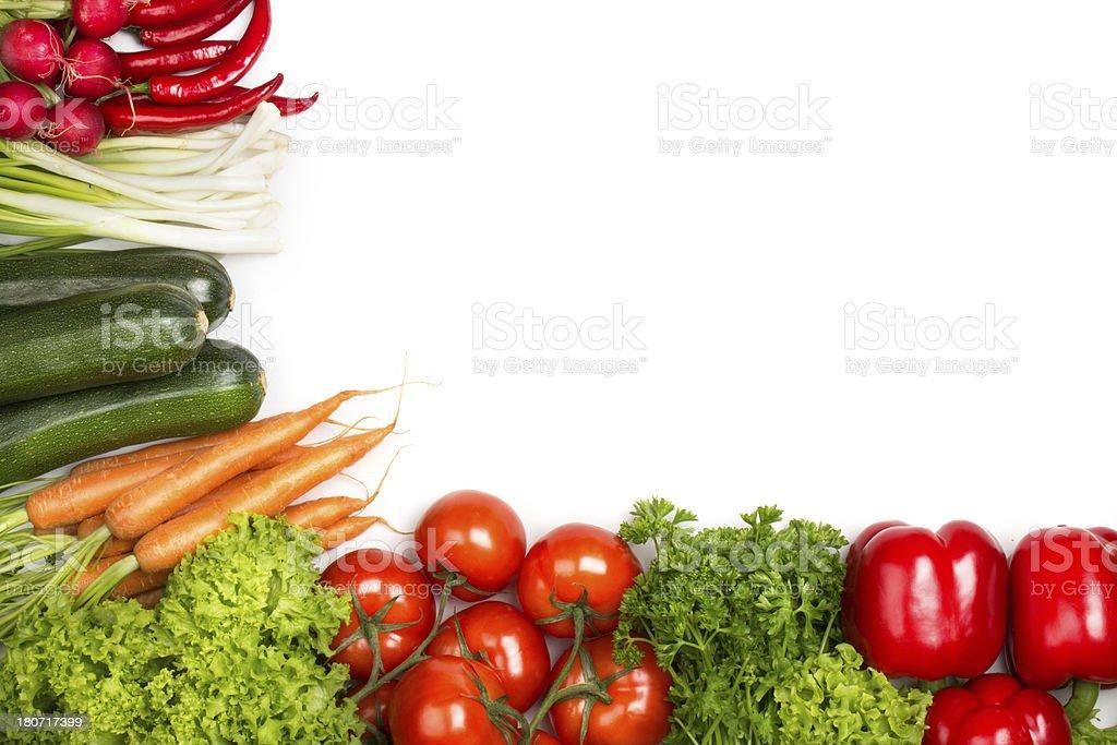 Fresh Vegetable Frame stock photo