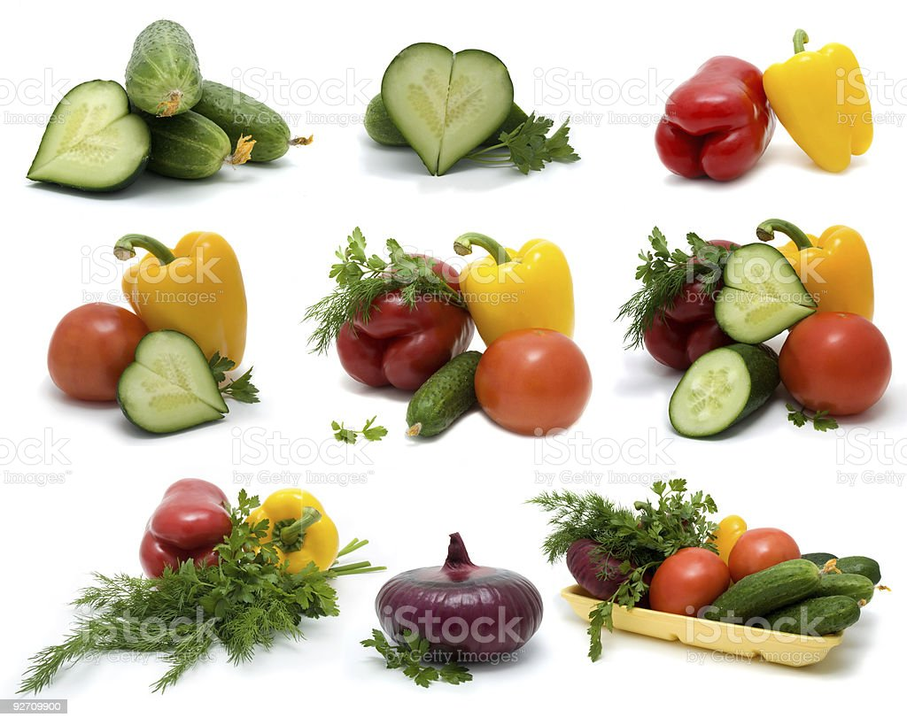 Fresh vegetable on a white background royalty-free stock photo