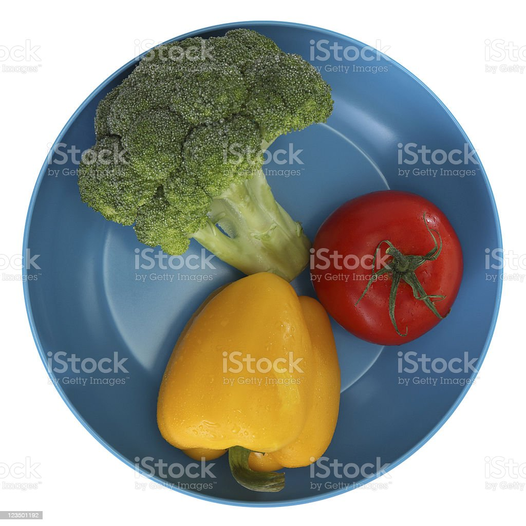 Fresh Vegetable Plate royalty-free stock photo