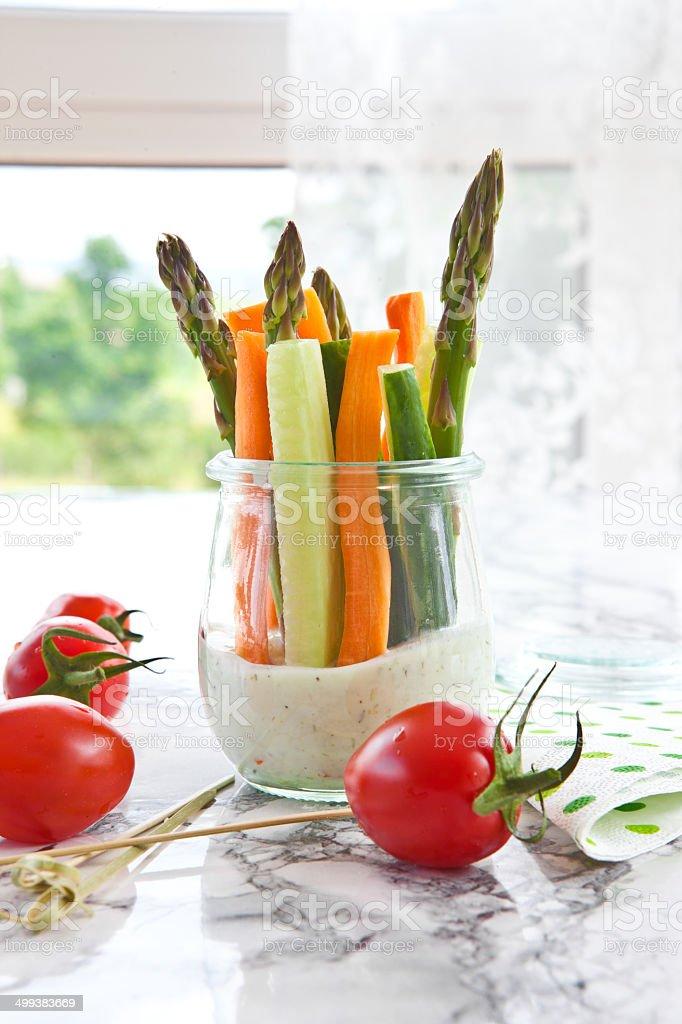 Frisches Gemüse-sticks – Foto