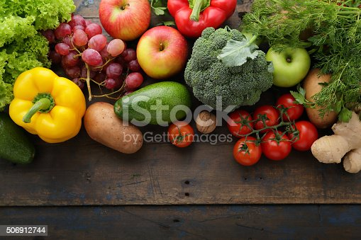 istock fresh vegetables and fruits background 506912744