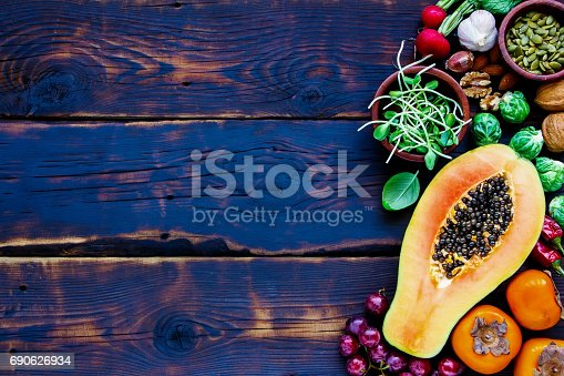 istock Fresh vegetables and fruits 690626934