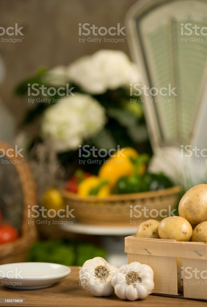 Fresh vegetables at the Greengrocer´s shop royalty-free stock photo