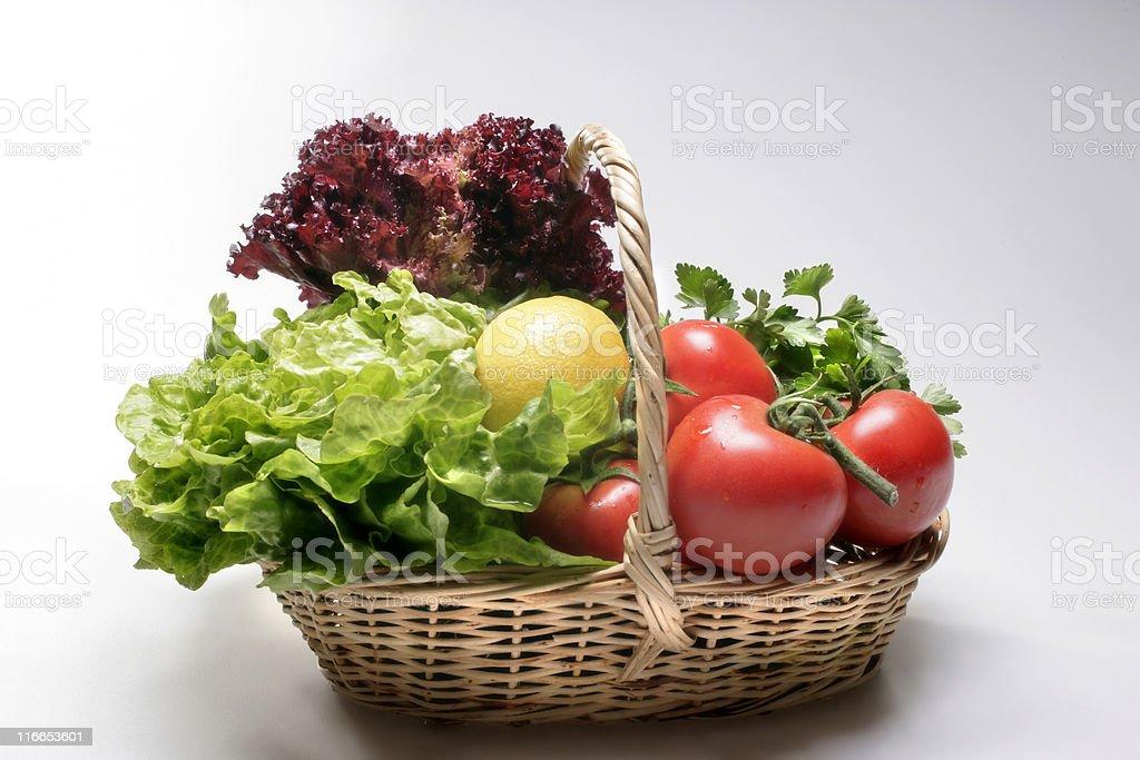fresh vegetables basket royalty-free stock photo