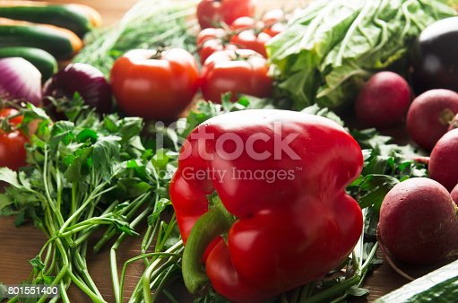 507328769 istock photo Fresh vegetables. Colorful vegetables background. Healthy vegetable . Assortment of fresh vegetables close up.Healthy food 801551400