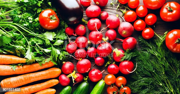 507328769 istock photo Fresh vegetables. Colorful vegetables background. Healthy vegetable . Assortment of fresh vegetables close up.Healthy food 801551402