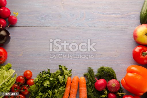 507328769 istock photo Fresh vegetables. Colorful vegetables background. Healthy vegetable . Assortment of fresh vegetables close up.Healthy food 816564392