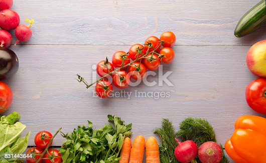507328769 istock photo Fresh vegetables. Colorful vegetables background. Healthy vegetable . Assortment of fresh vegetables close up.Healthy food 831443644