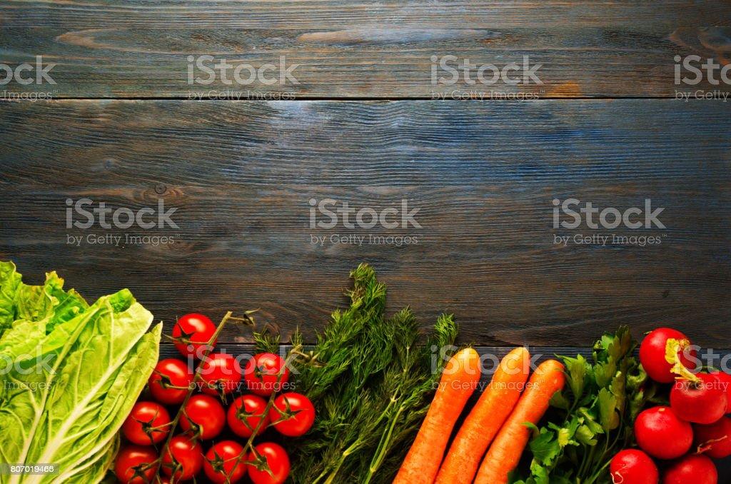 Fresh vegetables. Colorful vegetables background. Healthy vegetable ....