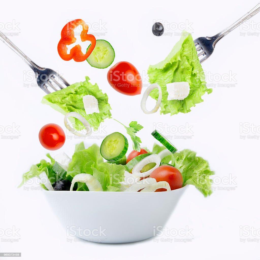 Fresh vegetables for salad zbiór zdjęć royalty-free