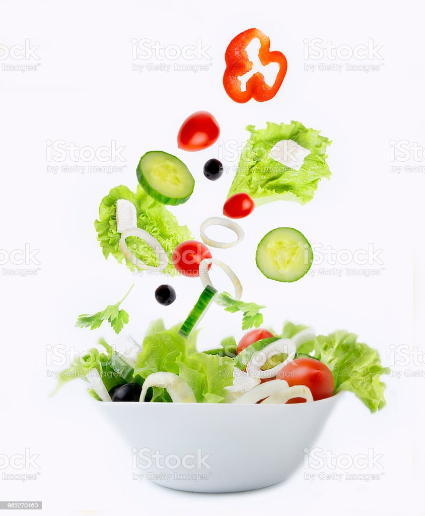 Fresh vegetables for salad royalty-free stock photo