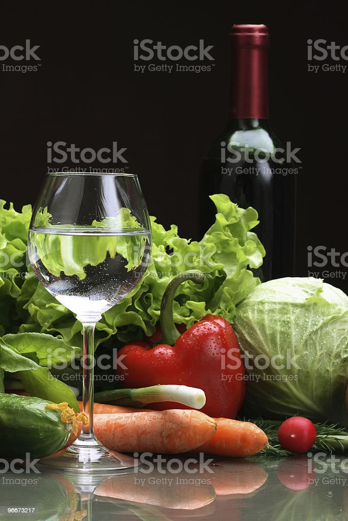 Fresh Vegetables, Fruits and other foodstuffs. royalty-free stock photo