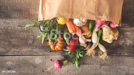 Fresh vegetables healthy food concept