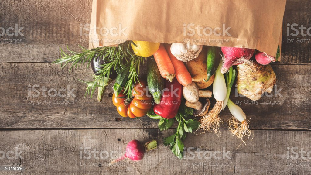 Fresh vegetables healthy food concept stock photo