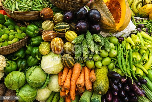 istock Fresh Vegetables in Rajasthan, India Market 606211940