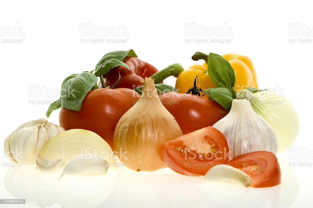 Fresh vegetables isolated on white royalty-free stock photo