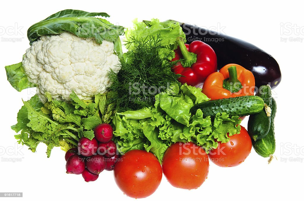 Fresh vegetables isolated royalty-free stock photo