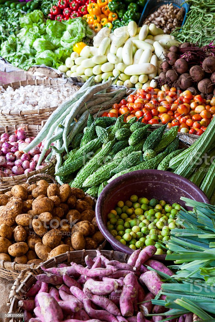 Fresh vegetables market stock photo