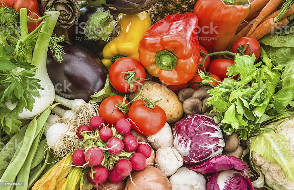 Fresh vegetables mix royalty-free stock photo