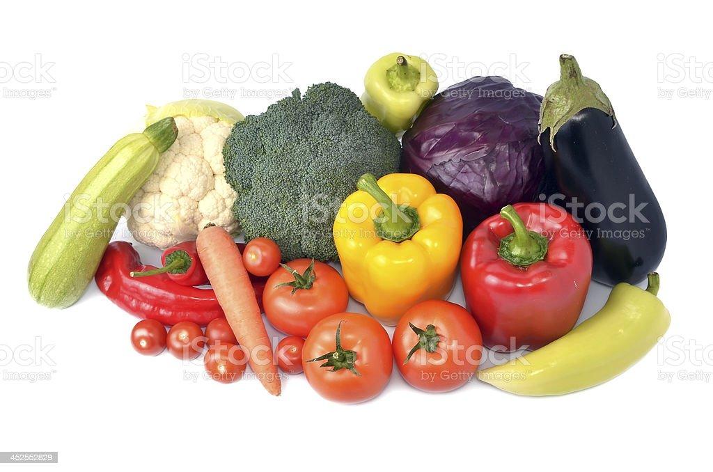 Fresh vegetables mix stock photo