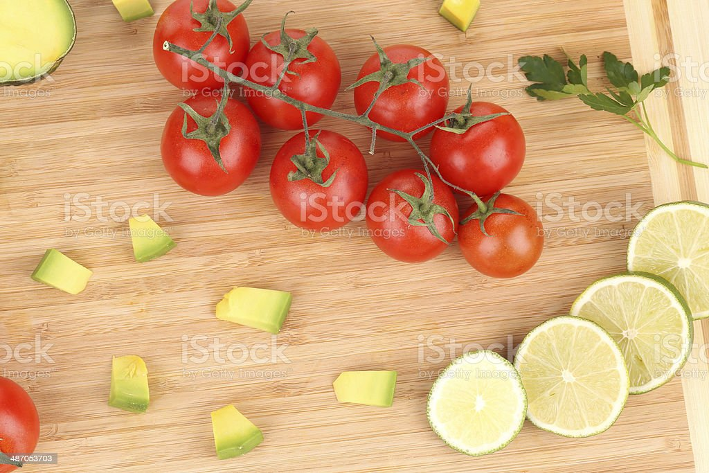 Fresh vegetables on cutting board. royalty-free stock photo
