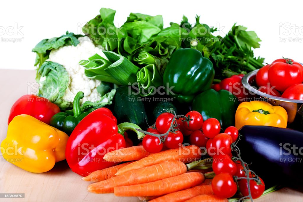 Fresh vegetables on the table stock photo