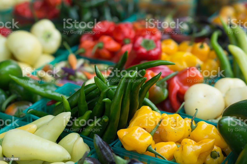 Fresh vegetables Fresh vegetables for sale at farmers market Agriculture Stock Photo