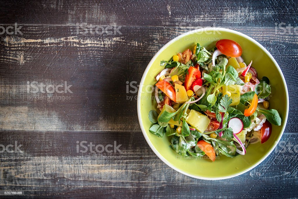 Fresh vegetarian salad stock photo