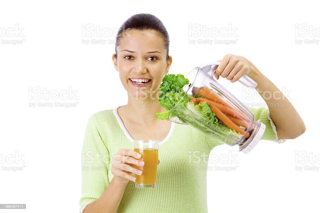 fresh veggie juice royalty-free stock photo