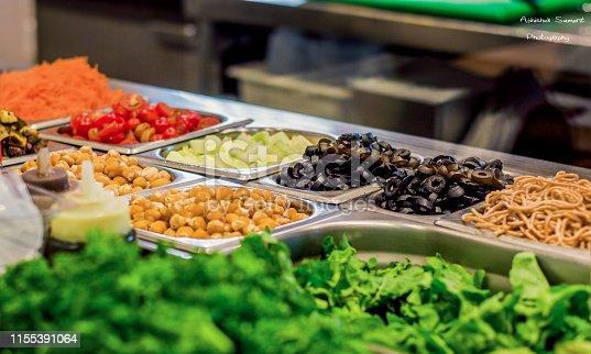 Assortment of fresh vegetables.