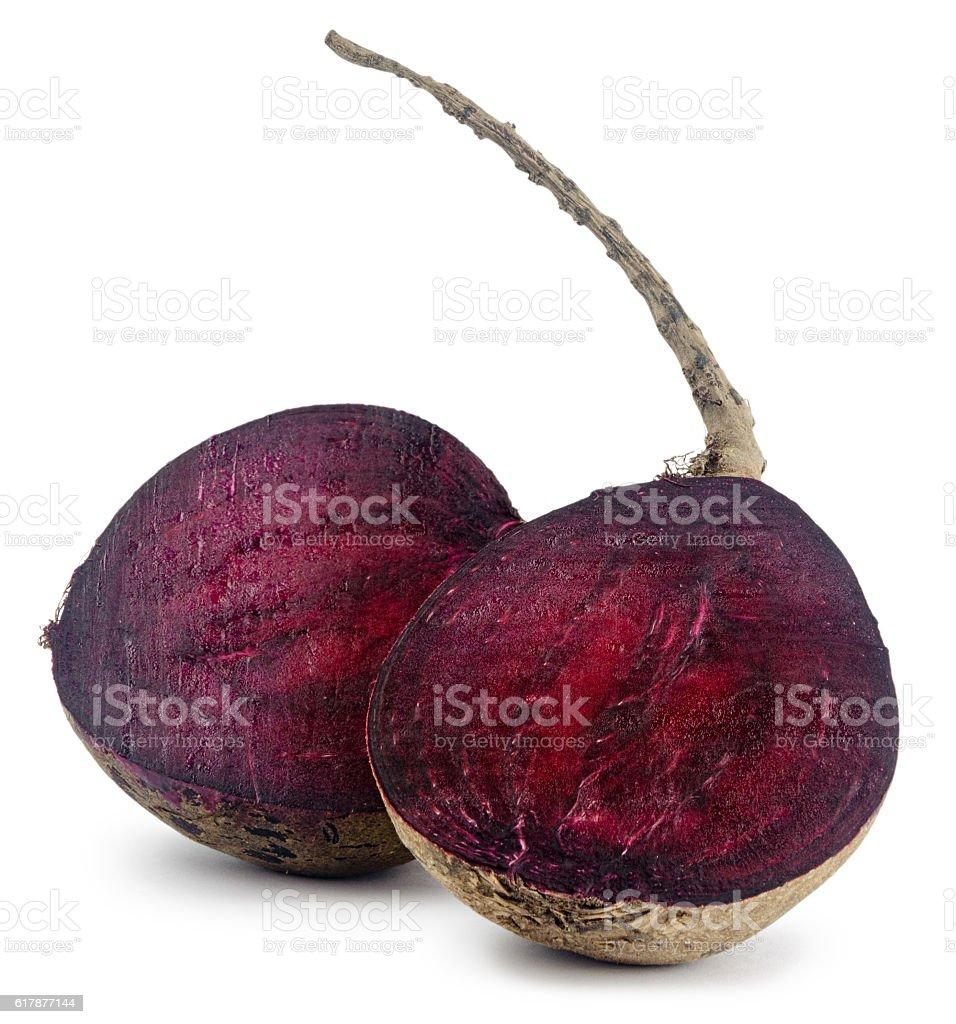 fresh vitamin burgundy beet isolated on white background stock photo