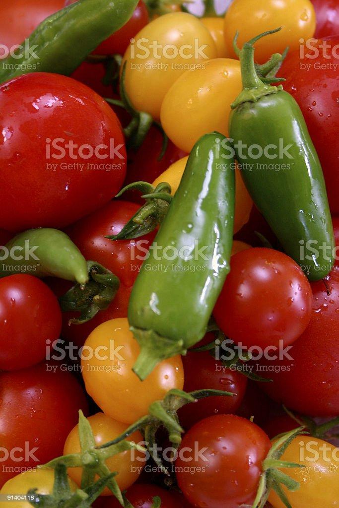 Fresh washed vegetables royalty-free stock photo